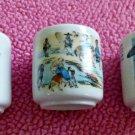 Vintage SET of 3 KOREAN Porcelain White Sake Cups