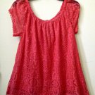 NWT Red Camel Est.1931 Size XS Pink Short Sleeve Women's Top Lace/Lined Floral