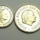 SET of 4 Netherlands Circulated Coins 5,10,25 cents 1 Gulden