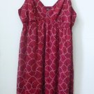 Massimo Size M Casual Spaghetti Strap Dress Red Empire Elastic Waist Lined