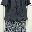 Petites LESLIE FAY 2 Piece Skirt Set Size 10 P Short Sleeve Top Lined Skirt