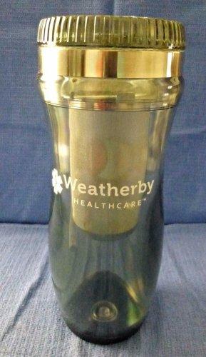 NEW W/T Box Translucent Travel Tumbler/Mug Double Wall Loose Tea Diffuser 14 oz