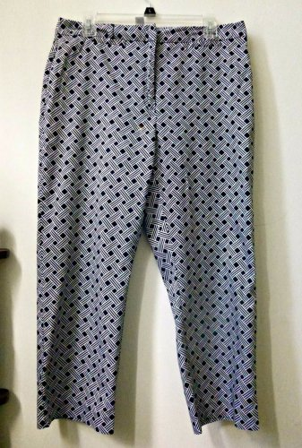 Charter Club Katherine Fit Size 12 Cropped Pants 2 Back Pockets Cotton/Spandex