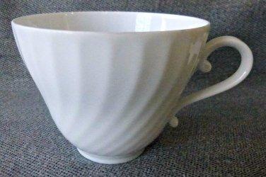Kaiser Nicole Set of 3 Swirl White Tea Coffee Cups Porcelain W.Germany