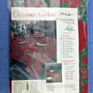 Timely Linens Christmas Garland Tablecloth All Over Print Oblong 52'' X 70''