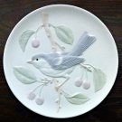 Crowning Touch Collection Porcelain Round Plate Bluebird Japan 7.5''