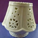 Ceramic Candle Holder with Lamp Shade Cream White