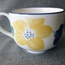 Big Coffee/Tea/Soup Cup/Mug Ceramic White/Blue Trim Floral Made in England
