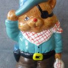 Cowboy Figural Cat Bank Piggy Bank Coin Holder Ceramic Collectibles Taiwan