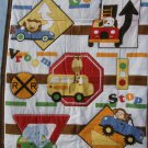 $40.50 Educational Cotton Quilt 35X42 Showing Words and Traffic Signs-Cotton Flannel Monkeys Backing