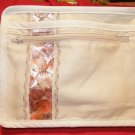 $45  SALE ITEM-8 X 10 inch Ladies Shoulder Bag – Light Tan With Shell Ribbon