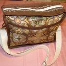 $50  Ladies Shoulder Bag - Brown and Gold Spanish Tiles