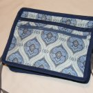 $50 8 X 10 inch Ladies Shoulder Bag – Different Shades of Blue In A Swirl Pattern