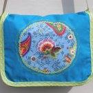 $45 SALE ITEM-Multi Colored Turquoise Paisley Cotton Canvas Shoulder-Cross Body Bag
