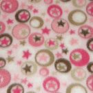 """$21.75  Antipill Fleece Throw 45"""" x 45""""  Circles-Stars - and 14"""" X 14"""" Lovey For the Child to Hold"""