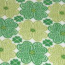 """$21.75  Antipill Fleece Throw 45"""" x 45""""  Green Shamrocks - and 14"""" X 14"""" Lovey For the Child to Hold"""