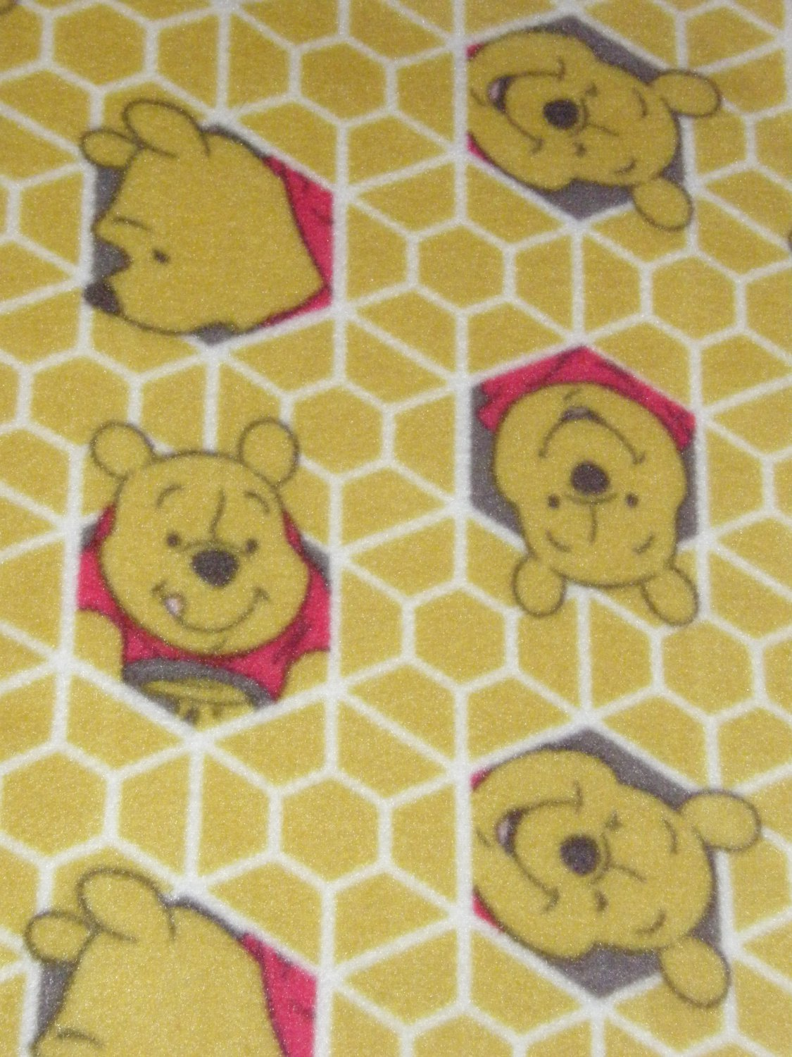 """$21.75  Antipill Fleece Throw 45"""" x 45""""  Yellow Pooh Bear-and 14"""" X 14"""" Lovey For the Child to Hold"""