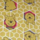 "$21.75  Antipill Fleece Throw 45"" x 45""  Yellow Pooh Bear-and 14"" X 14"" Lovey For the Child to Hold"
