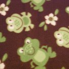 "$21.75  Antipill Fleece Throw 45"" x 45"" Green Frogs - and 14"" X 14"" Lovey For the Child to Hold"