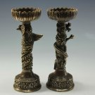 Old tradition Carved Copper candlestick
