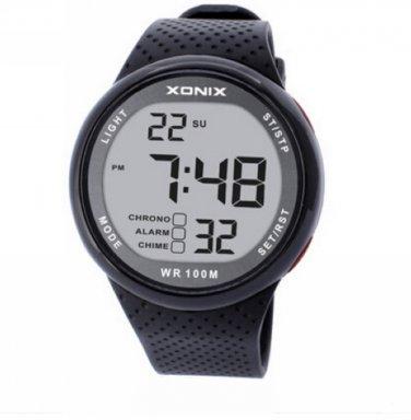 XONIX Men Sports Watch Digital Waterproof 100m Swim Led Light Outdoor Wristwatch