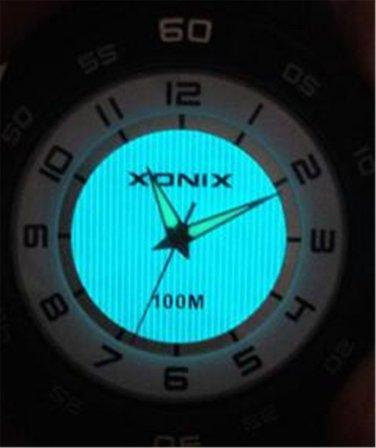 xonix Men Sports Watch Quartz Analog WR100M LCD Light  Outdoor Swim watch