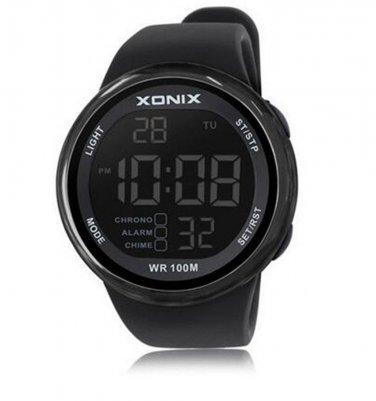 Xonix Men Sports Watch Digital WR100M Swim Mineral Glass Led Outdoor Wristwatch