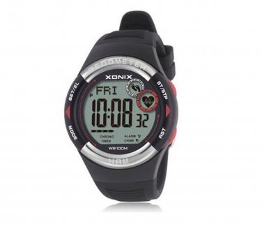 Xonix Men Sports Wristwatch Digital Heart Rate Monitor Pedometer Calories Unisex