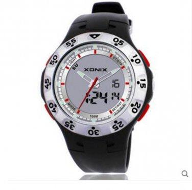 xonix Men Sports Watch Dual Display WR100M Digital Quartz Outdoor watch