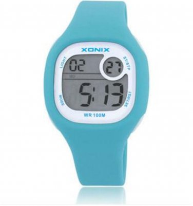 Xonix Girls Sports Watch Digital WR100M Outdoor Wristwatch LED Light Jelly Watch