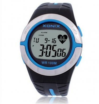Xonix Mens Heart Rate Watch WR100M Multi function Sports calories watch unisex