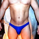 Joe Snyder (L 32-34 in) seamless low-rise BLUE maxbulge swim brief