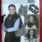 Butterick 5727  Vest, Neck Warmer, Scarf, Collar and Bag fashion accessory