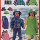 Butterick 5717 Girls Wardrobe Hat, Jacket, Pants, Skirt, and Jumper Size 2-3-4-5 UNCUT