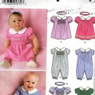 Simplicity 9967 Smocked Baby Dress or Boy's Romper Sizes 0 Mo to 18Mos..