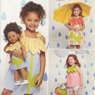 "Simplicity 1172 Girl's Size 3-8 Dress, Top, Shorts, Purse & 18"" Doll Dress Pattern"