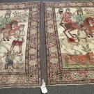 HANDMADE  ORIENTAL RUGS PAIR ONE OF A KIND  PICTURESQUE  1880s  100%WOOL