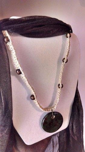 Hemp Necklace w/ Large Painted Pendant