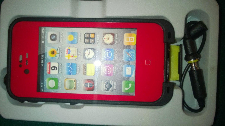 Red Apple Iphone 4/4s Waterproof/Shock Proof Case