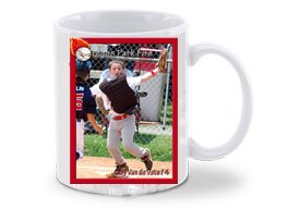 15oz Baseball Card Coffee Mug (White)