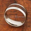 8mm Koa Wood Stainless Steel Wedding Ring Oval SLR6105