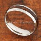 6mm Koa Wood Stainless Steel Wedding Ring Oval SLR6106