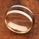 8mm Koa Wood Stainless Steel Wedding Ring Oval PG SLR6113