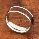 6mm Koa Wood Stainless Steel Wedding Ring Flat SLR6108