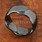 8mm Black Ceramic Ring Wave Edge TUR5035