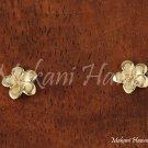 Hawaiian Jewelry Plumeria 14k Yellow Gold Post Earring 7mm GE2109