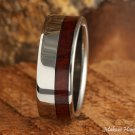 8mm Titanium Cocobolo wood Inlaid Wedding Ring TIR4052