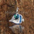SOP1046 3 Opal Fish Pendant