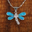 SOP1068 4 Opal Dragonfly CZ Pendant(Chain Sold Separately)