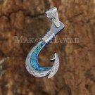 SOP2108 Opal Fishhook Pendant (Chain Sold Separately)